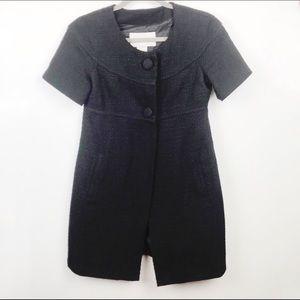 BB Dakota Jackets & Coats - BB Dakota Black Tweed Car Coat Small